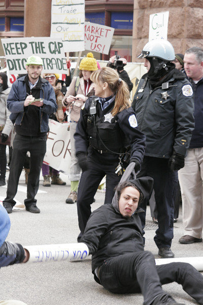 National Lawyers Guild Legal Observing at protest in Chicago, protecting the righst of activists