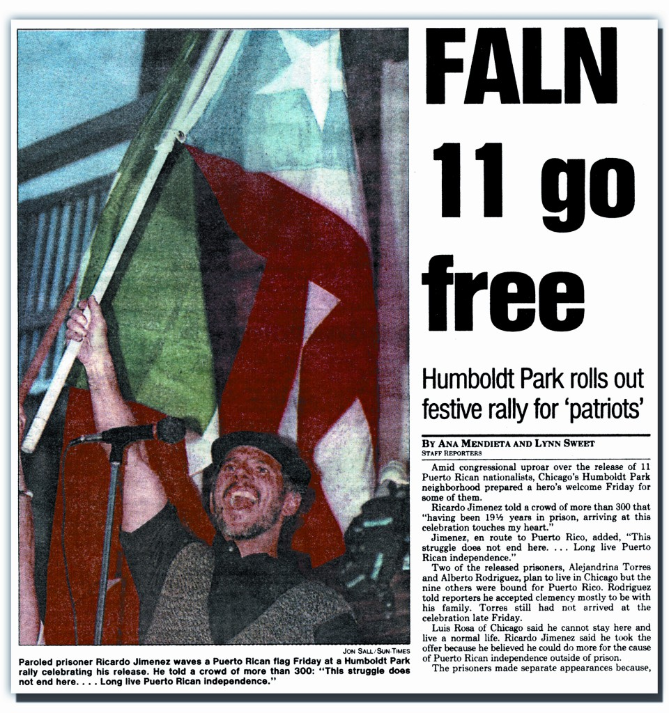 FALN, Puerto Rican Independence Political Prisoners released in 1999