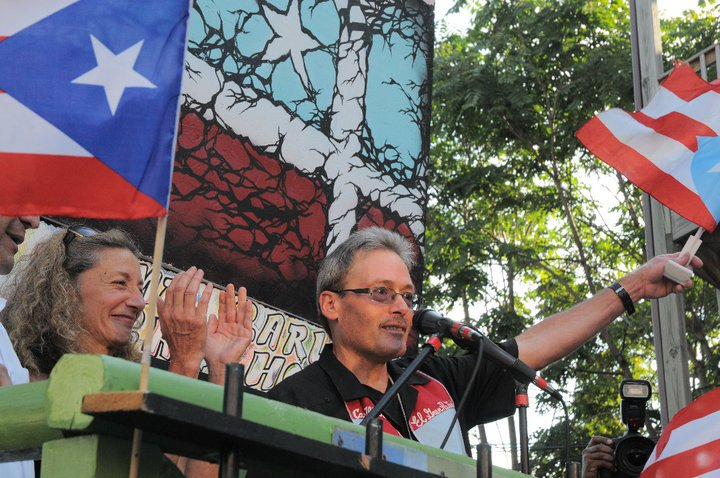 Chicago civil rights attorney Jan Susler and Carlos Alberto Torres, released Puerto Rican Political Prisoner